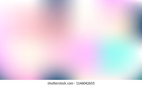 Unfocused Mesh Vector Background, Hologram Bright Overlay. Funky Pink, Purple, Turquoise Dreamy Noble Unicorn Girlie Background. Rainbow Fairytale Texture Iridescent Pearlescent Holographic Paper
