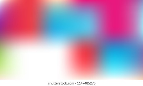 Unfocused Mesh Vector Background Hologram Neon Bright Teal. Funky Pink, Purple, Turquoise Dreamy Female Unicorn Girlie Background. Rainbow Fairytale Iridescent Pearlescent Holographic Dark Wallpaper