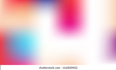 Unfocused Mesh Vector Background Hologram Neon Bright Teal. Dreamy Pink, Purple, Turquoise Glam Female Cute Girlie Background. Rainbow Fairytale Iridescent Pearlescent Holographic Dark Wallpaper