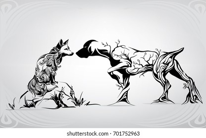 Unforeseen meeting on hunting