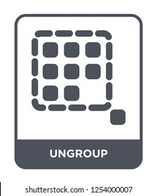 ungroup icon vector on white background, ungroup trendy filled icons from Geometry collection, ungroup simple element illustration