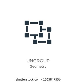 Ungroup icon vector. Trendy flat ungroup icon from geometry collection isolated on white background. Vector illustration can be used for web and mobile graphic design, logo, eps10