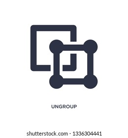 ungroup isolated icon. Simple element illustration from geometry concept. ungroup editable logo symbol design on white background. Can be use for web and mobile.