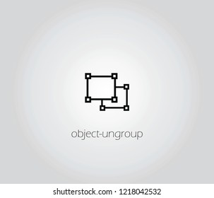 Ungroup Objects   icon vector