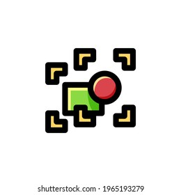 Ungroup Objects User Interface Outline Icon Logo Vector Illustration