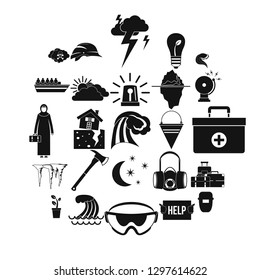 Unhappiness icons set. Simple set of 25 unhappiness vector icons for web isolated on white background