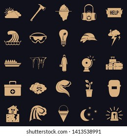 Unhappiness icons set. Simple set of 25 unhappiness vector icons for web for any design
