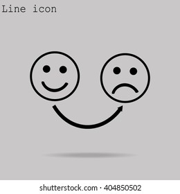 Unhappy and Happy Smileys
