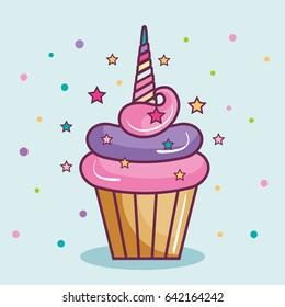 Unicorn cupcake design