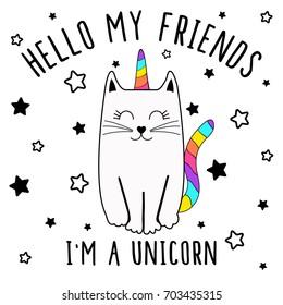 i am unicorn, cute graphics for t-shirts