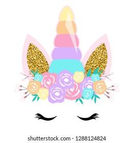 Unicorn cute illustration - Vector