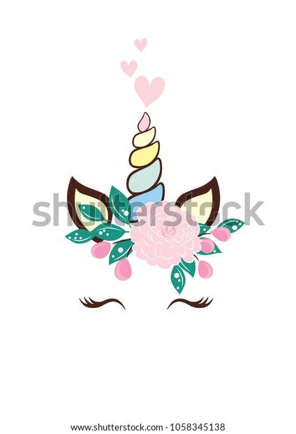 image regarding Printable Room Decor identified as Unicorn Style Floral Magic Artwork Printable Inventory Vector