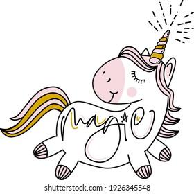 unicorn dreams illustration design graphics