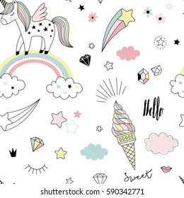 unicorn dreams pattern