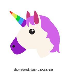 Unicorn emoji vector