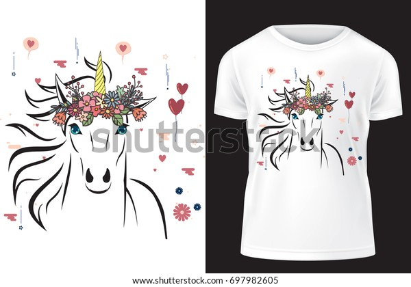 Unicorn Flower Crown Template Print On Stock Vector Royalty Free 697982605 Polish your personal project or design with these cartoon crown transparent png images, make it even more personalized and more attractive. shutterstock