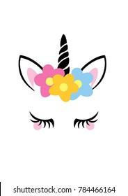 Unicorn graphic design poster