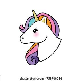 Unicorn head emoticon