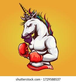 Unicorn Illustration perfect for tshirt design or clothing brand / apparel