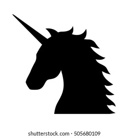 Unicorn - legendary mythical creature flat vector icon for apps and websites