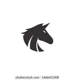 Unicorn logo template vector icon illustration design