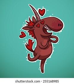 Unicorn in Love, vector