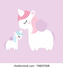 Unicorn mother baby