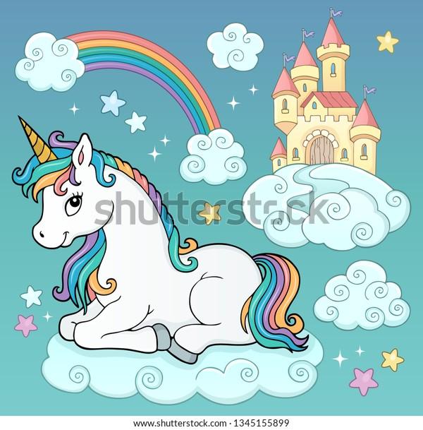Unicorn and objects theme image 3 - eps10 vector illustration.