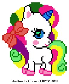 Pixel Art Unicorn Images Stock Photos Vectors Shutterstock