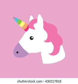 Unicorn portrait decor kids room print