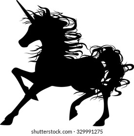 Unicorn Silhouette - Vector Illustration