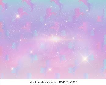 Unicorn silhouette vector illustration. pastel magic unicorn with star on pastel background. Fairy horse animal.cosmic unicorn, Fantasy, Stars