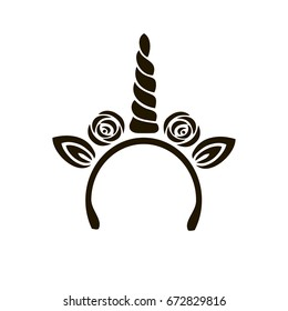 cute template unicorn cake logo vector stock vector royalty free
