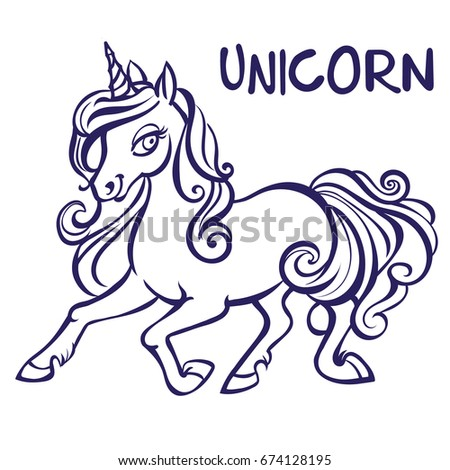 Unicorn Vector Artwork Coloring Book Pages Stock Vector Royalty