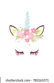Unicorn vector graphic design