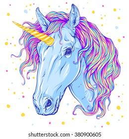 Unicorn. Vector illustration