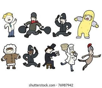 uniform cartoon collection