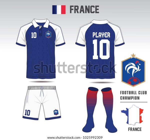 5614a7c7b Uniform football Design. Blue and White layout Soccer jersey or football  kit template for sport