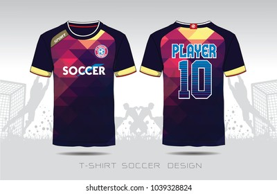 f6e369471 Uniform football Design. Purple and black layout Soccer jersey or football  kit template for sport