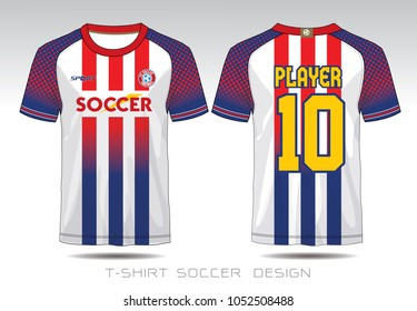 T Shirt Sport Design Soccer Jersey Football Stock Vector Royalty