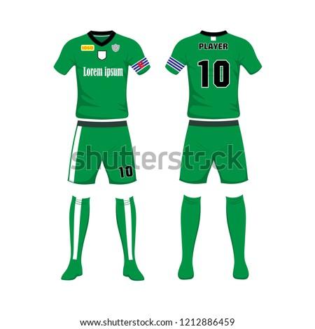 uniform football sport design template sport stock vector royalty