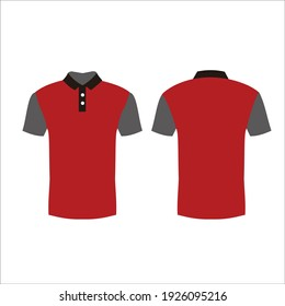uniform shirt short sleeve mockup  vector design