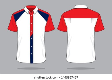 Uniforms Shirt Design Vector : Front and Back View