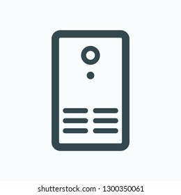 Uninterrupted power supply outline icon, UPS vector icon