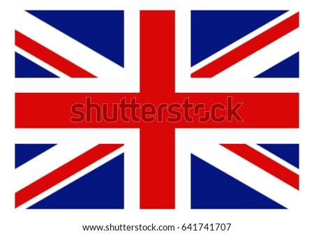 Union Flag England Vector Stock Vektorgrafik Lizenzfrei 641741707
