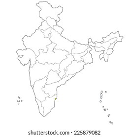 Ilustraciones Imagenes Y Vectores De Stock Sobre India Map