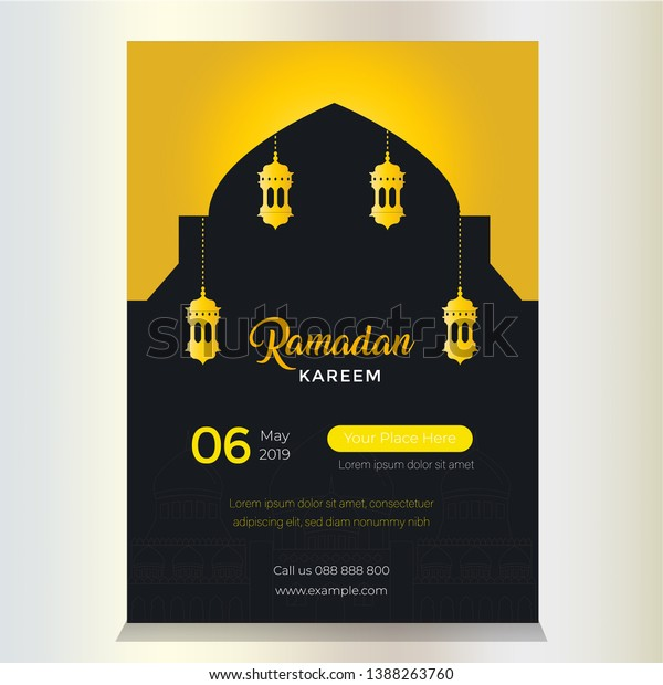 Uniqe Design Ramadan Poster Templates You Stock Vector