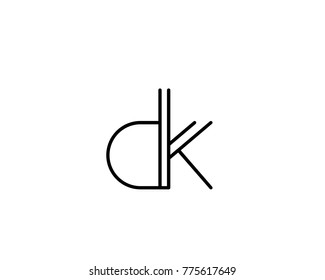 Unique, Abstract and creative letters DK,KD,D and K logo design