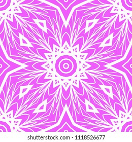 Unique, abstract geometric pattern. Seamless vector illustration. For design, wallpaper, happy background.