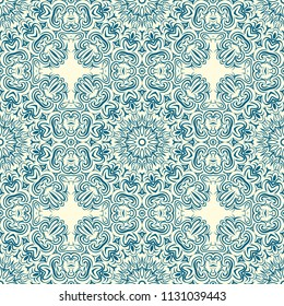 Unique, abstract geometric pattern. Seamless vector illustration. For big design, wallpaper, happy background.